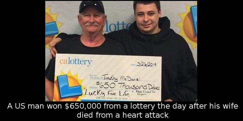 Timothy McDaniel [Left] (Credit: California Lottery)