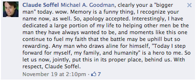 Claude accepted him apology. Image Source: FACEBOOK
