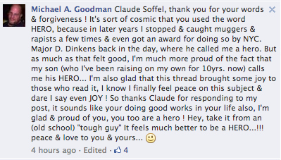Michael thanked for the forgiveness. Image Source: FACEBOOK