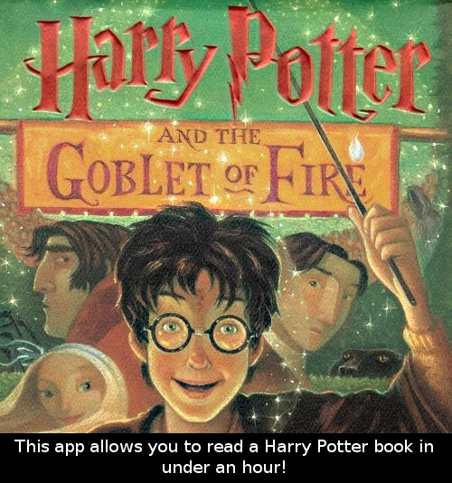 Harry Potter Book Facts : This app allows you to read a harry potter book in under