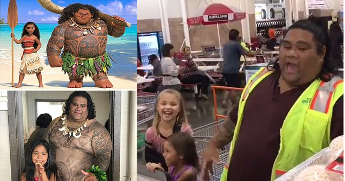 This Costco Clerk Is A Real Life Maui From Disney's Moana